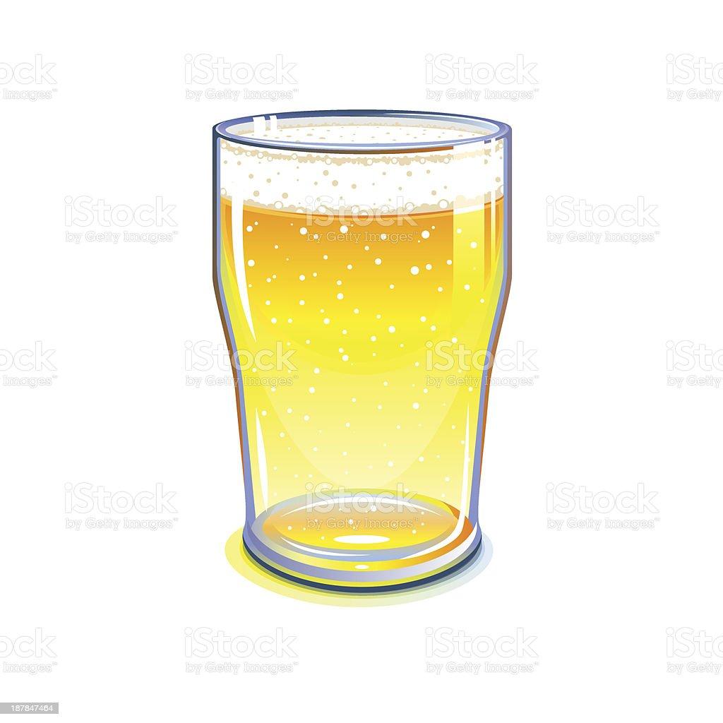 Beer pint glass royalty-free stock vector art