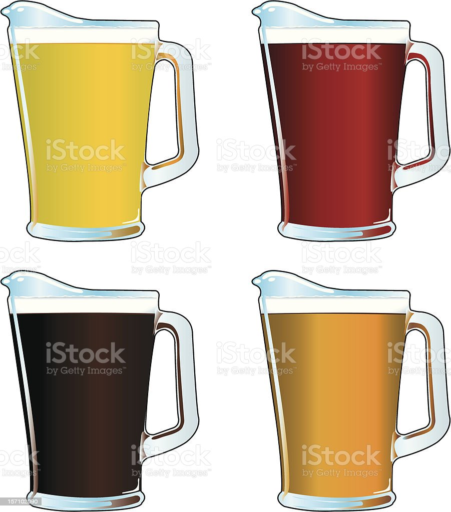 Beer Pitchers royalty-free stock vector art