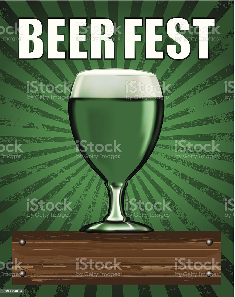 beer poster with green cup royalty-free stock vector art