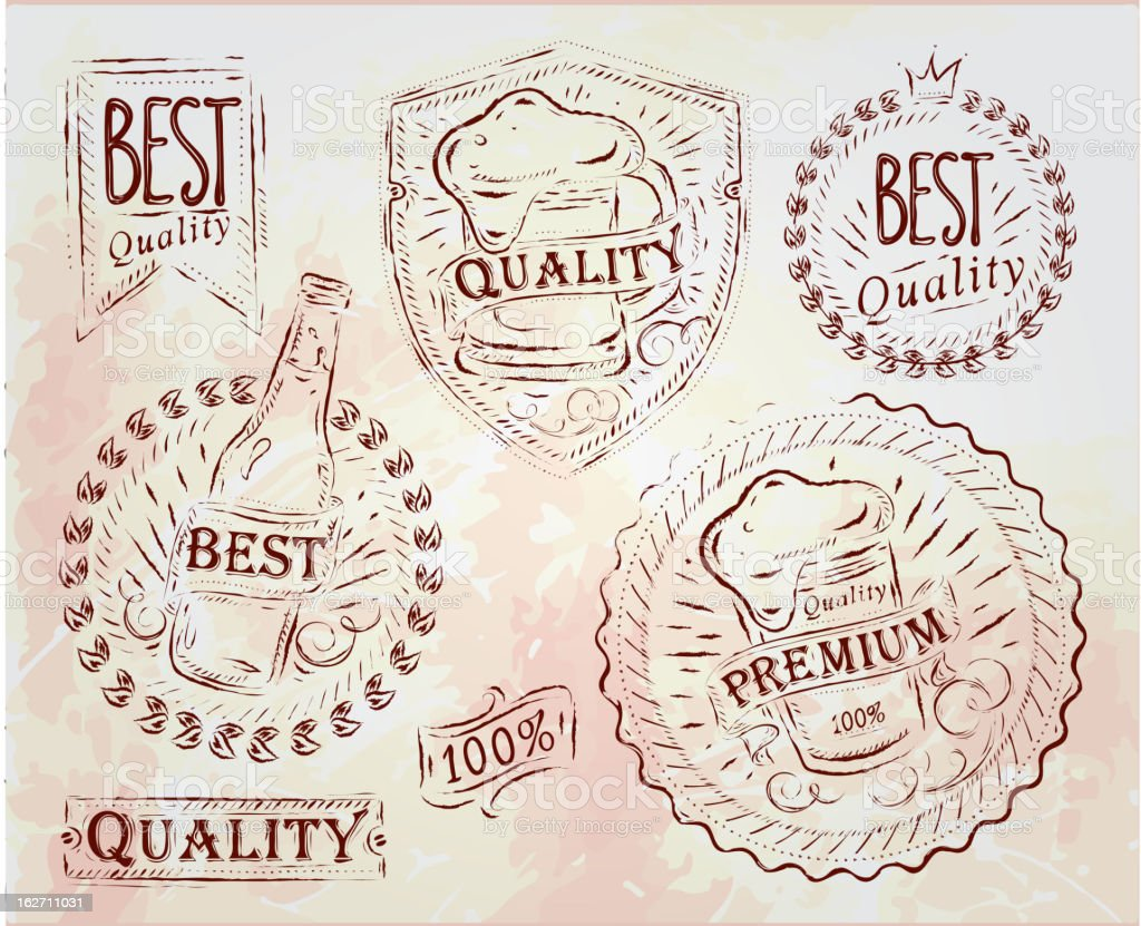 Beer Quality elements brown royalty-free stock vector art