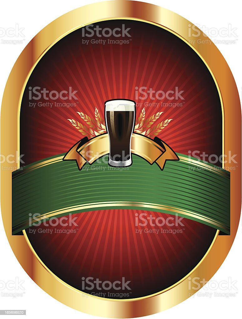 beer red label royalty-free stock vector art