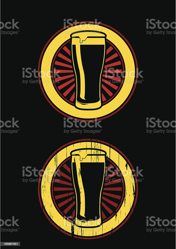 beer retro emblem royalty-free stock vector art