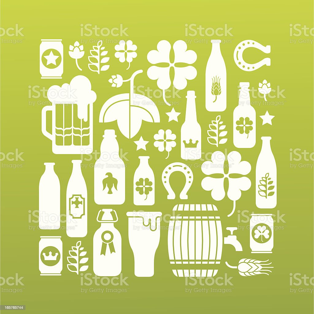 Beer silhouettes royalty-free stock vector art