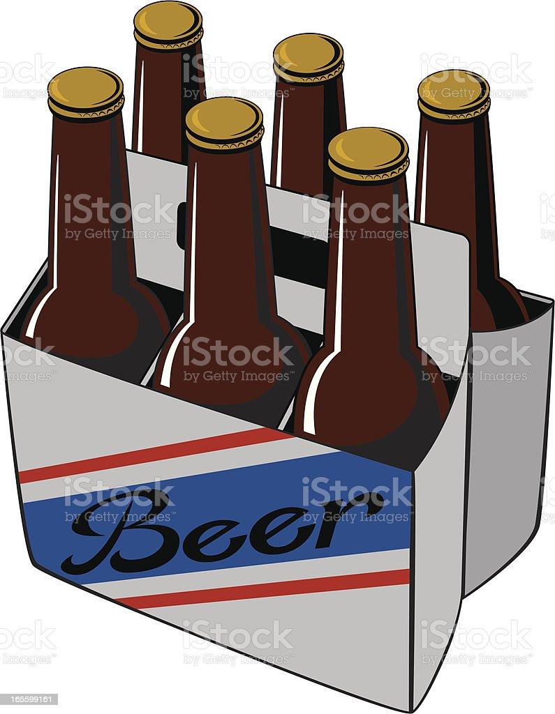 Beer Six Pack royalty-free stock vector art