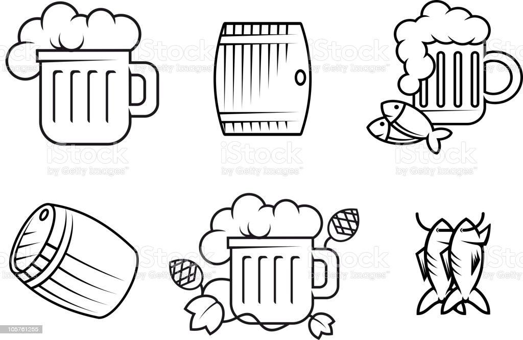 Beer symbols royalty-free stock vector art