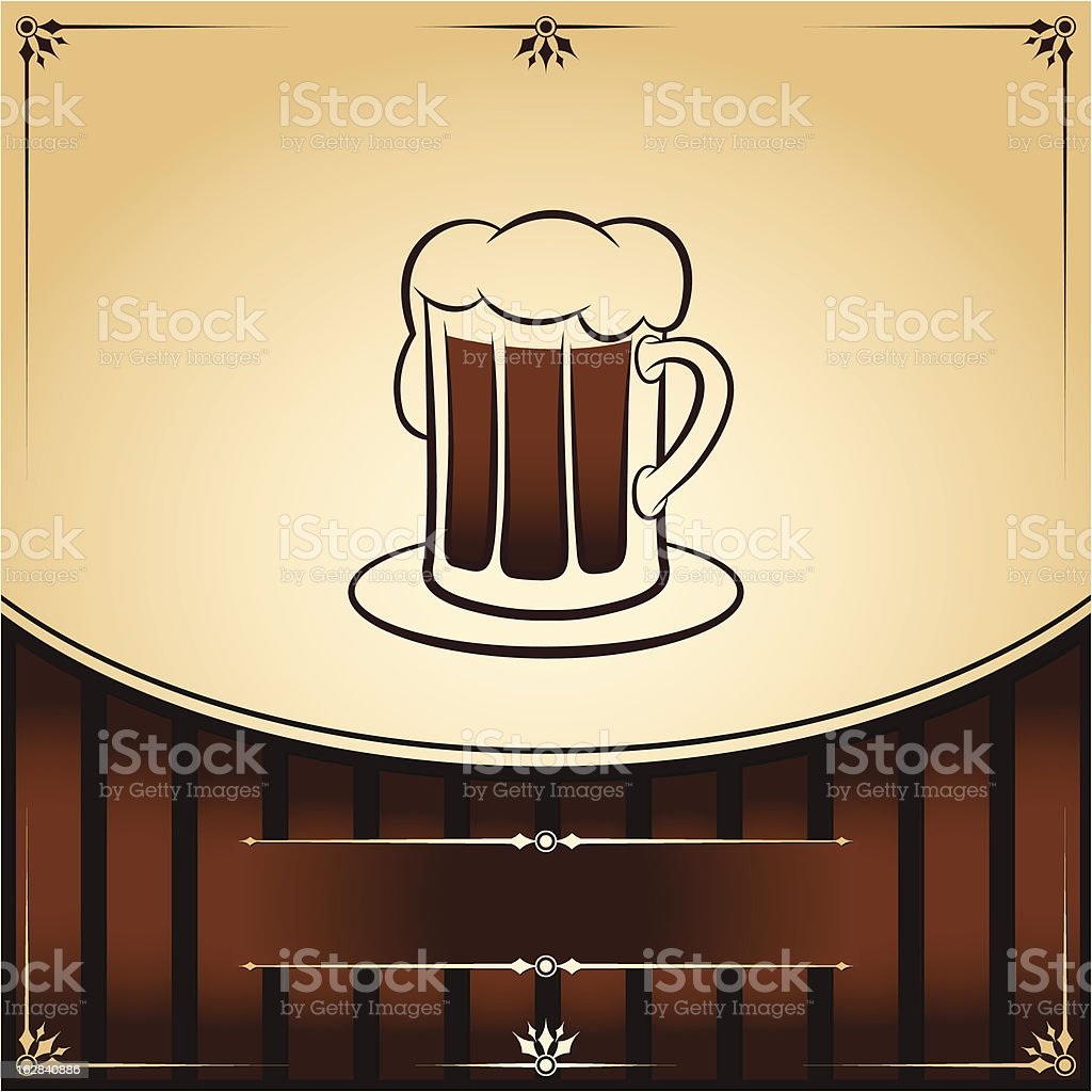 Beer tankard. Vector graphic Illustration with place for text royalty-free stock vector art