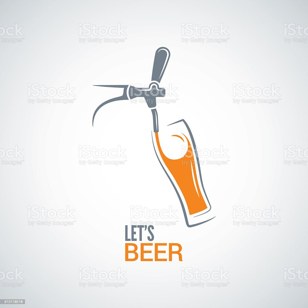 beer tap glass design vector background vector art illustration