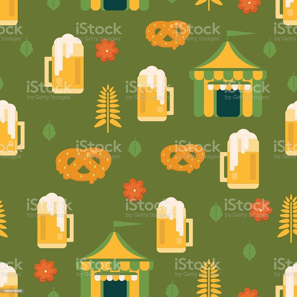Beer tent background vector art illustration