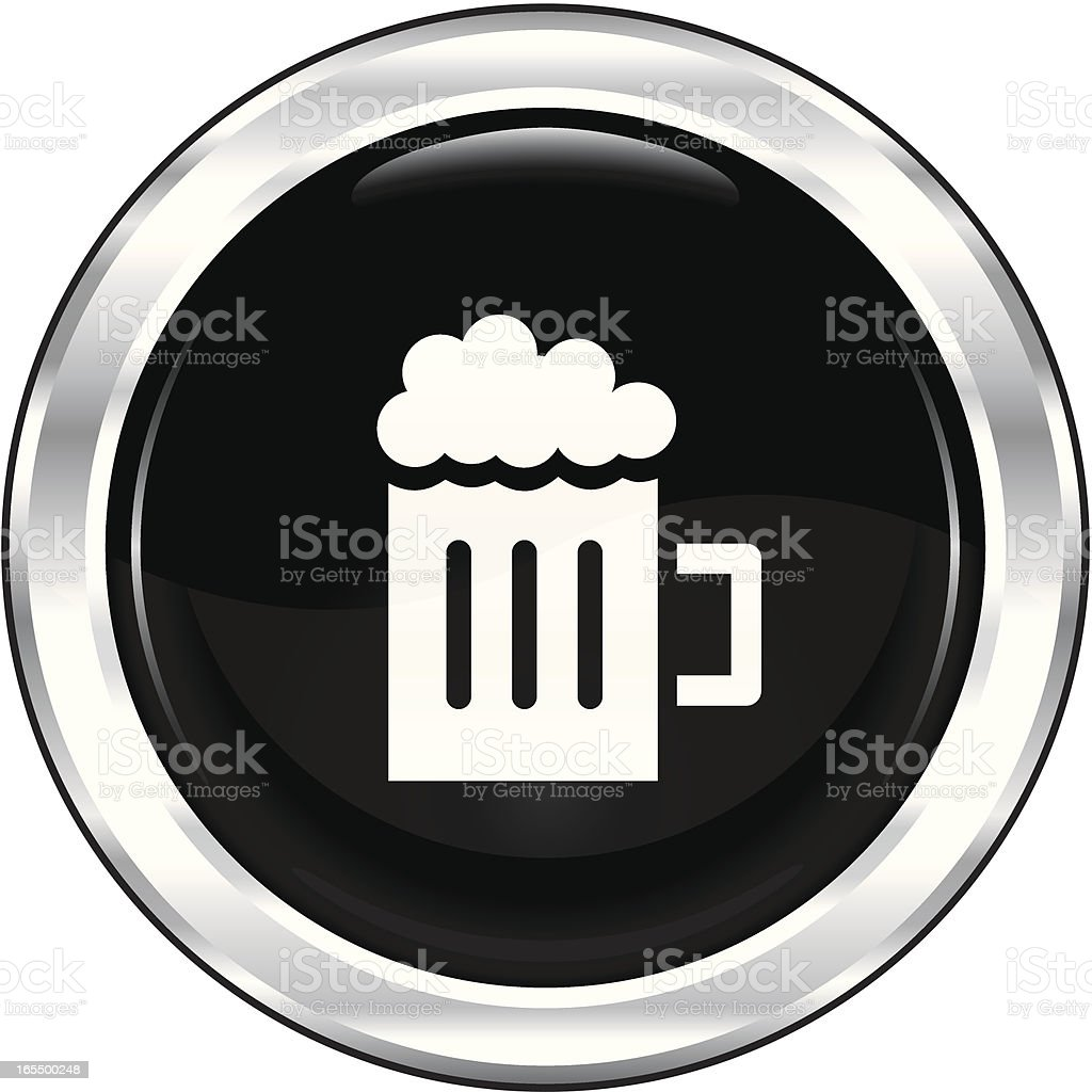Beer   The Blackest Icon Series royalty-free stock vector art
