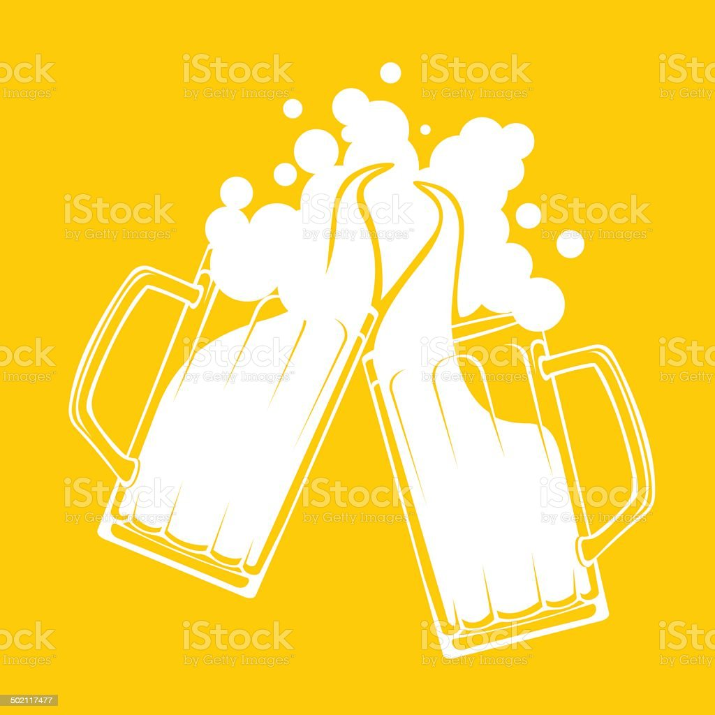 Beer toast splash concept vector art illustration