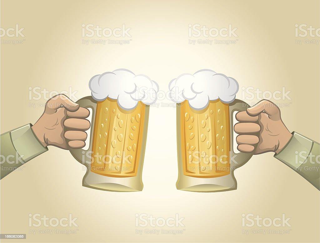 Beer toast royalty-free stock vector art