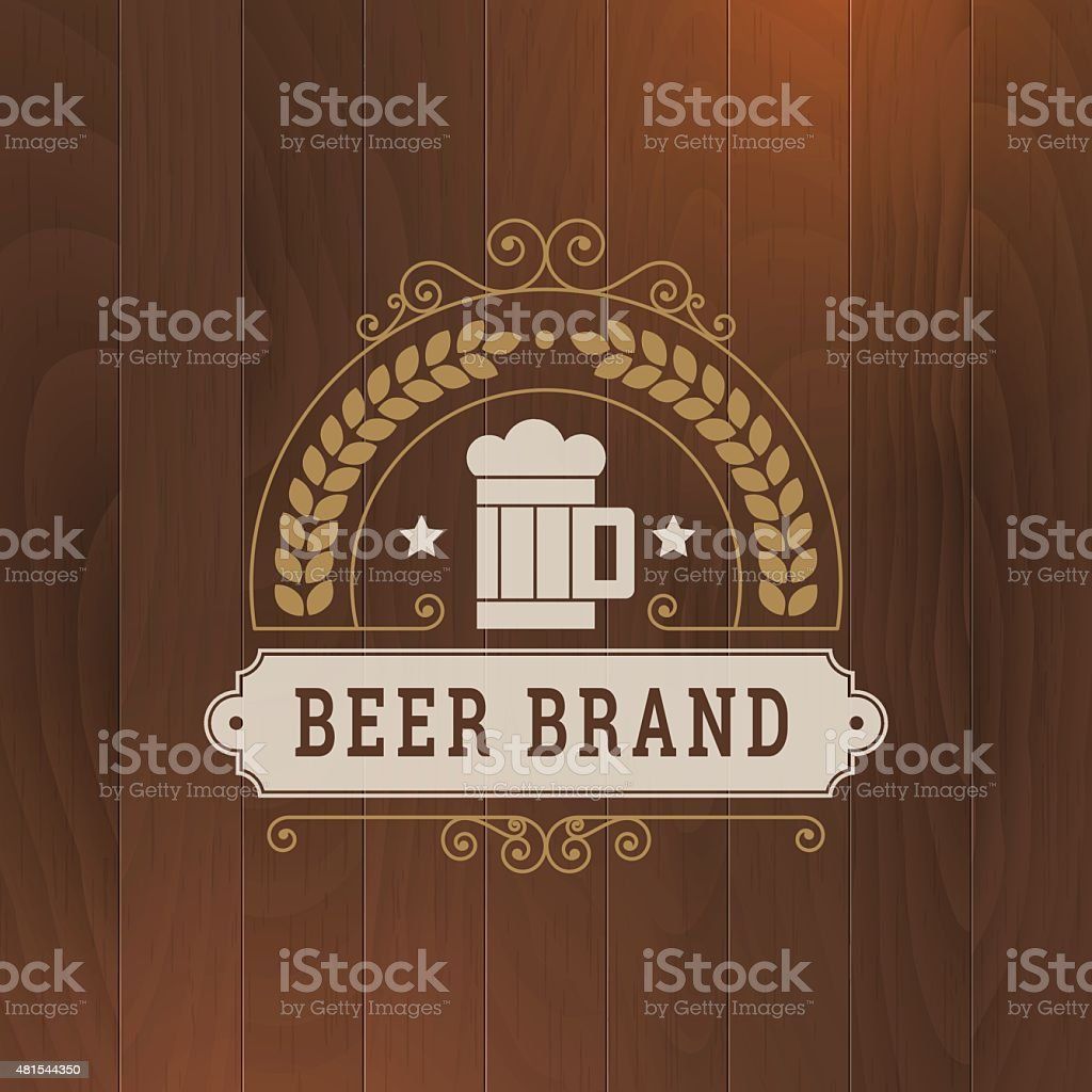 beer vector icon business label design vector art illustration