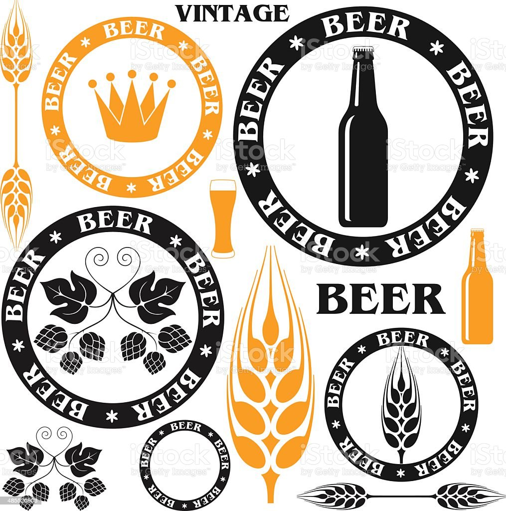 Beer vector art illustration