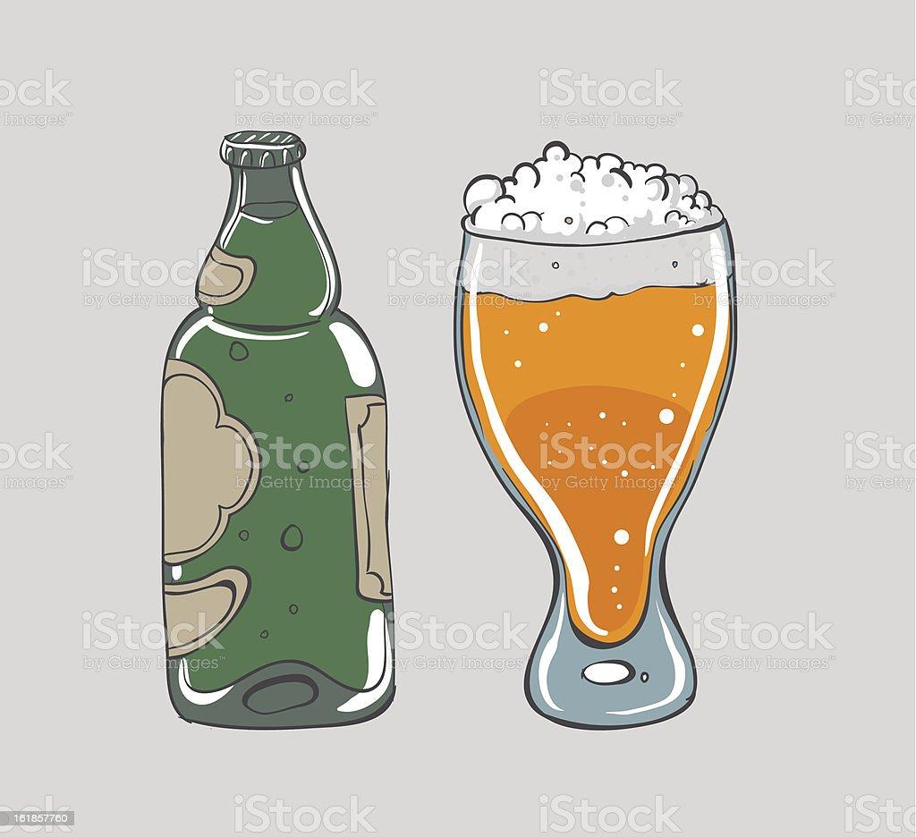 Beer - vector illustration royalty-free stock vector art