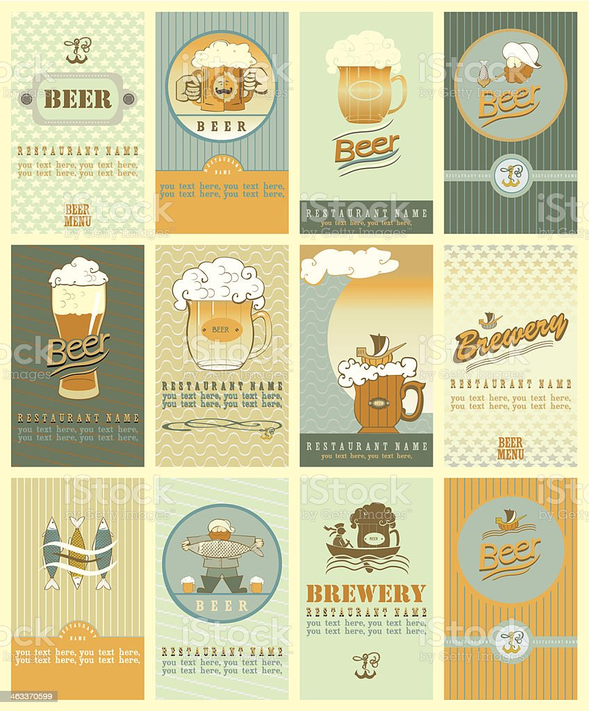 beer's  labels royalty-free stock vector art