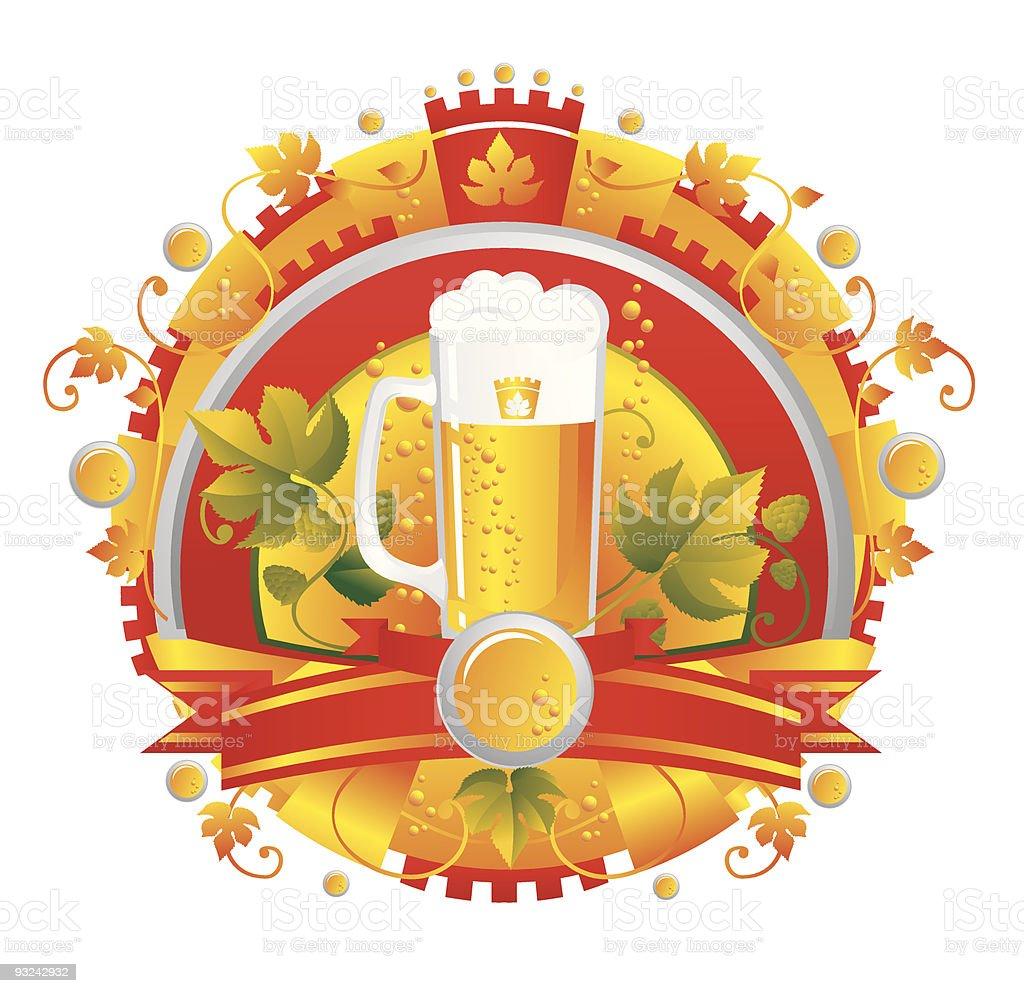 BeerVignette vector art illustration
