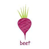 beet root vegetable design