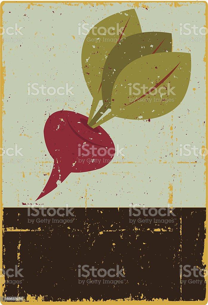 Beet Sign vector art illustration