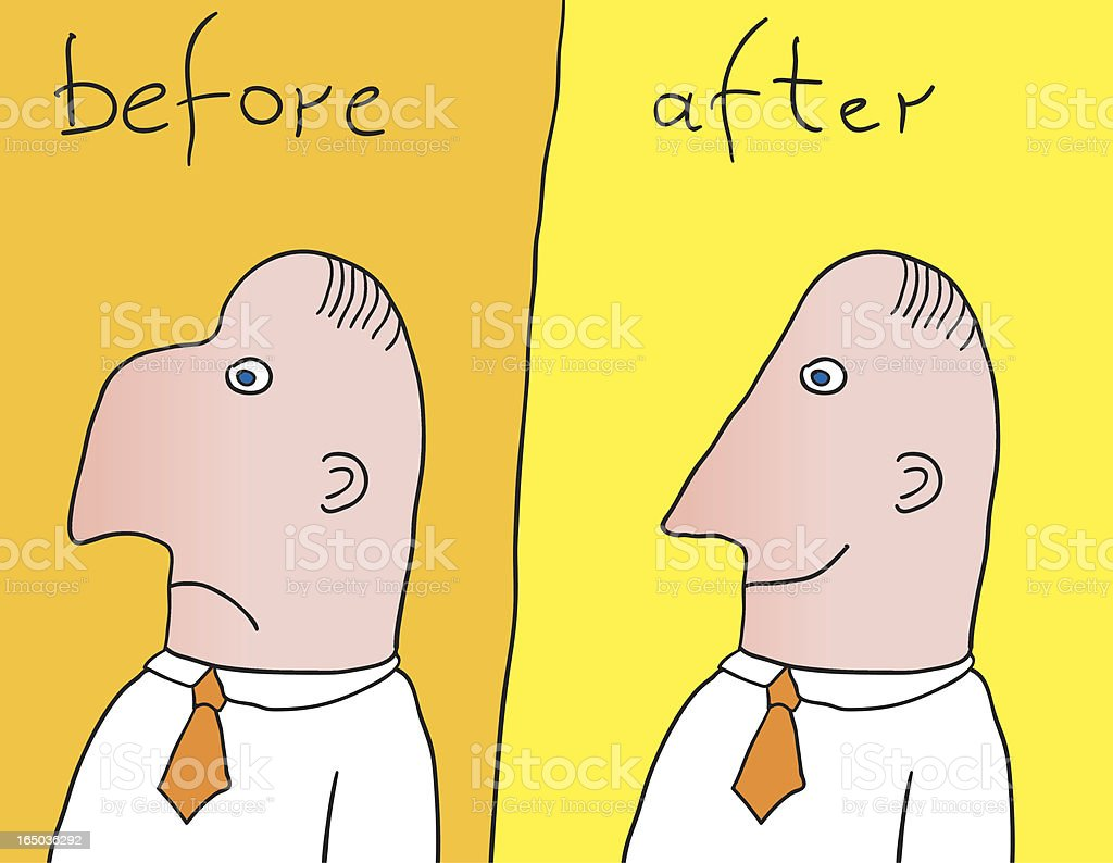 before & after royalty-free stock vector art