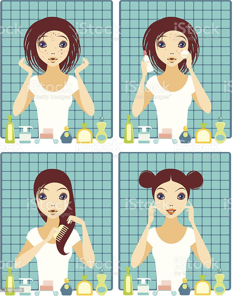 Before and after royalty-free stock vector art
