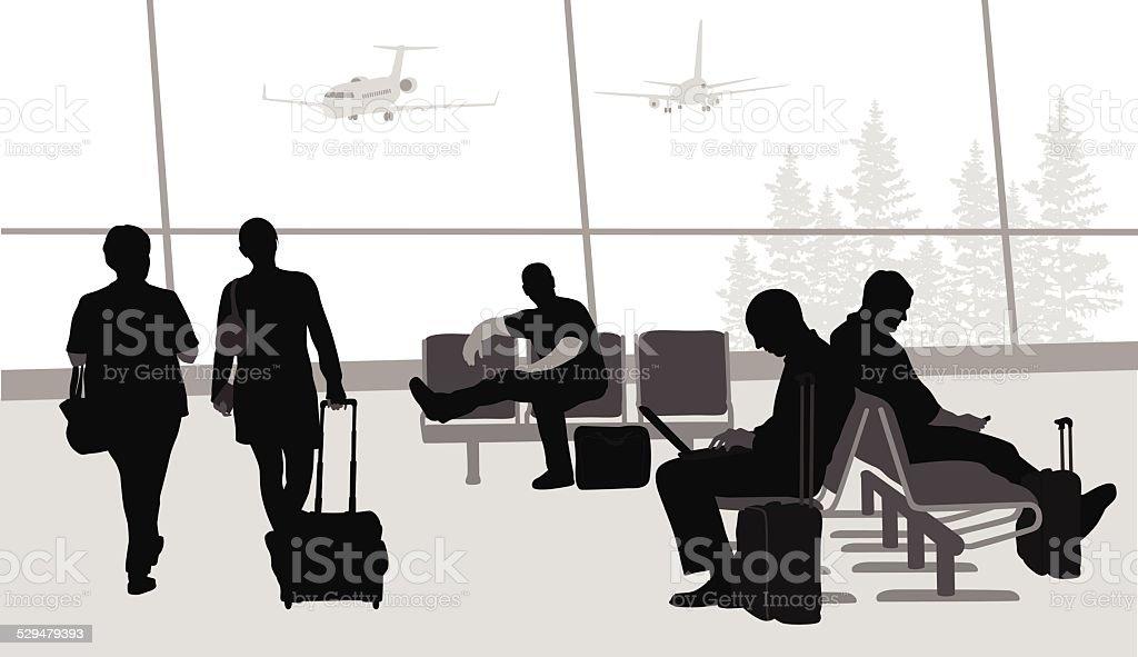 BeforeBoarding vector art illustration