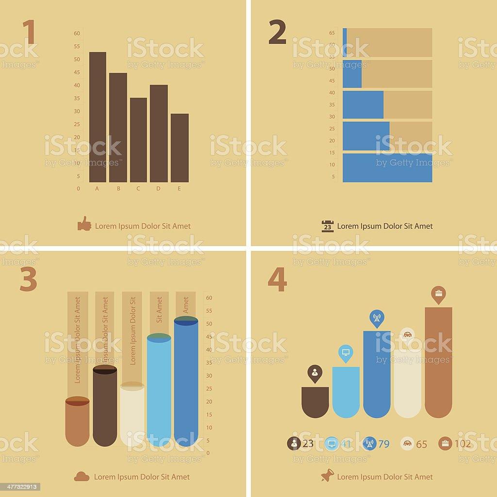 Beige charts royalty-free stock vector art