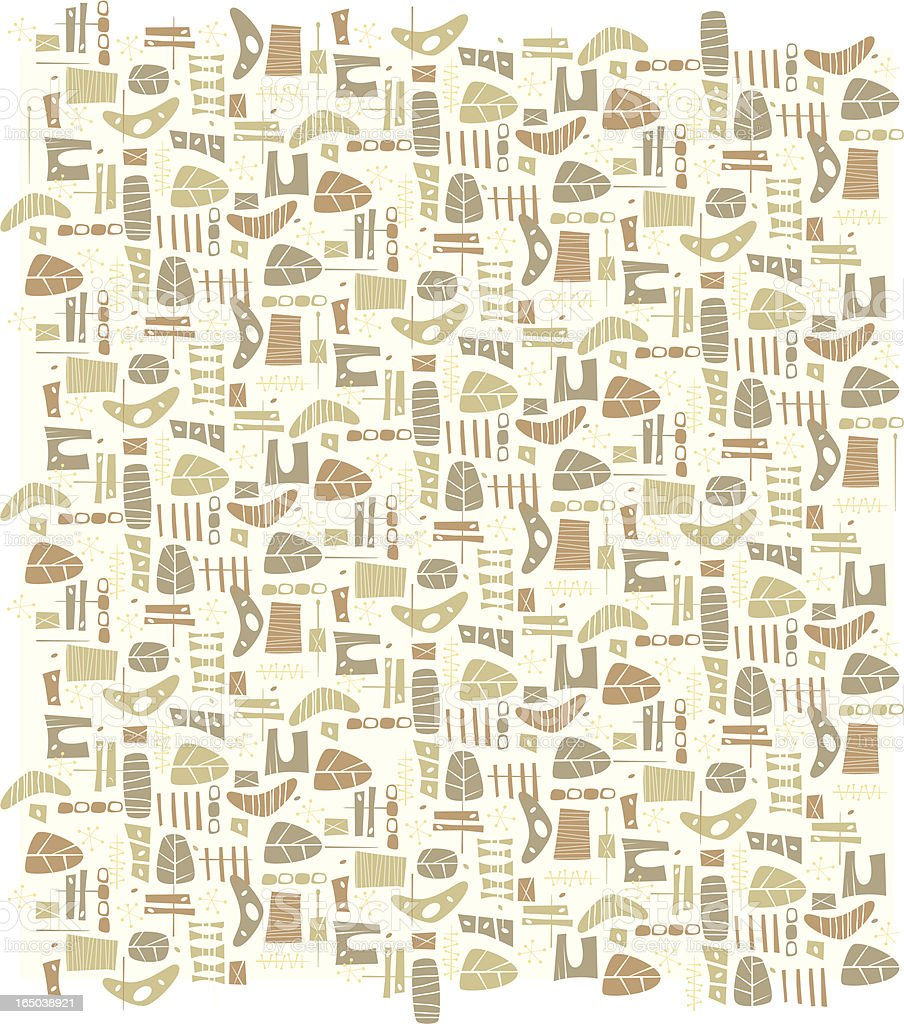 Beige Cheeseplant Pattern royalty-free stock vector art