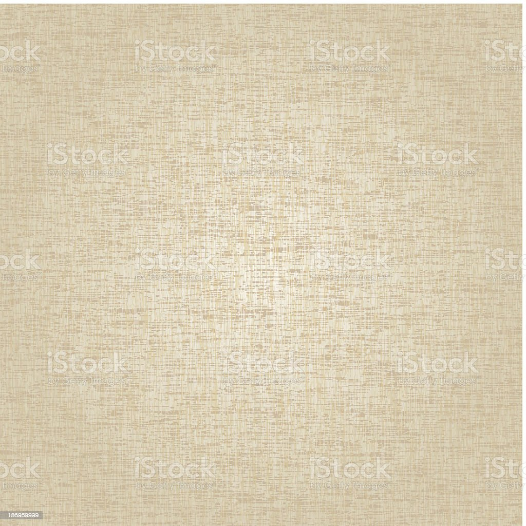Beige fabric background with texture showing vector art illustration