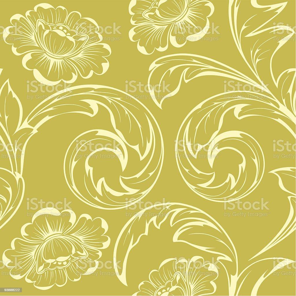Beige flowers royalty-free stock vector art