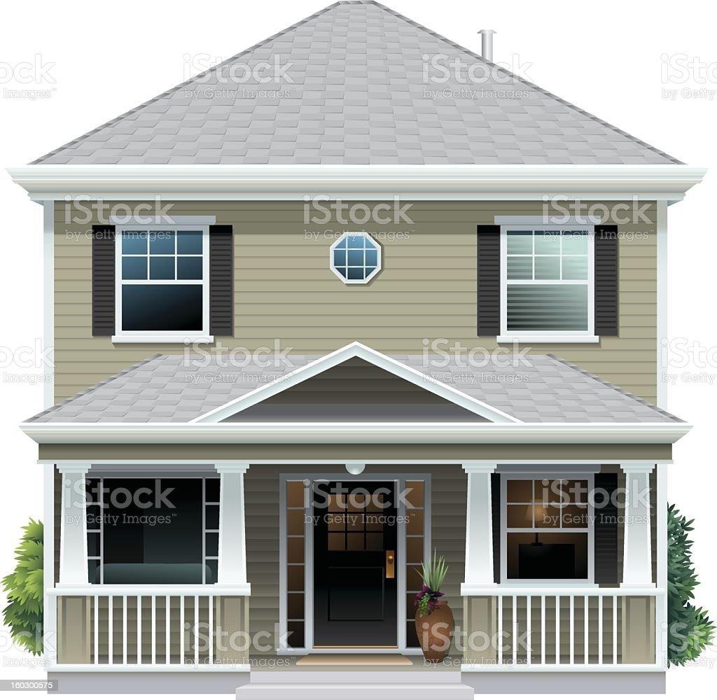 Beige House royalty-free stock vector art