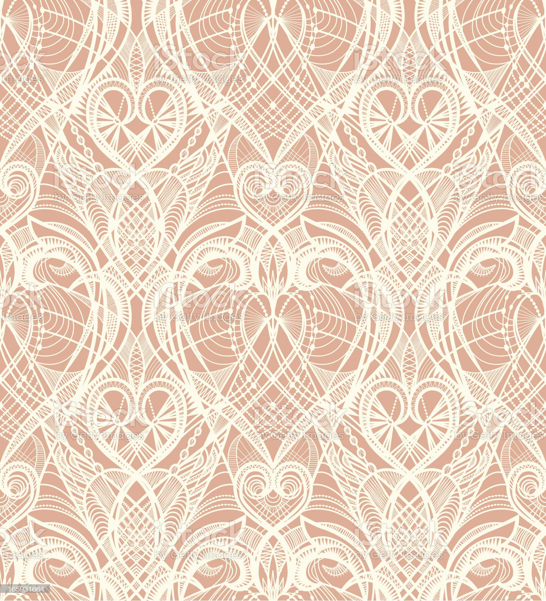 Beige Lace Seamless Pattern royalty-free stock vector art