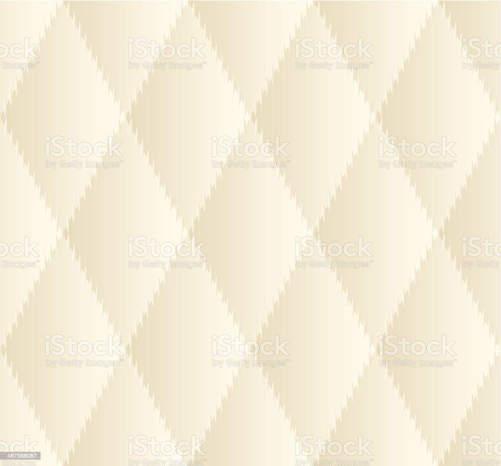 Beige Rhombus Seamless Pattern vector art illustration