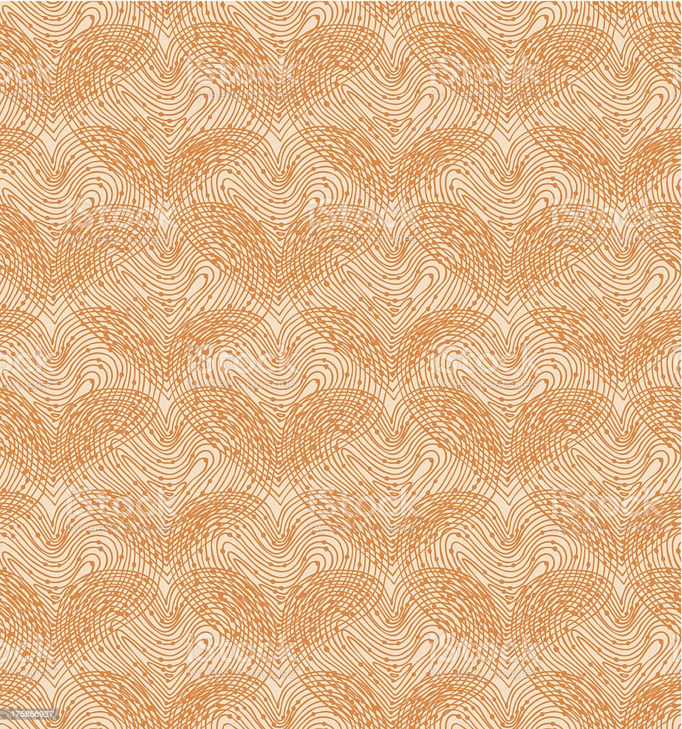 Beige seamless pattern with hearts royalty-free stock vector art
