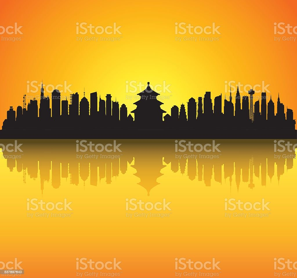 Beijing, China vector art illustration