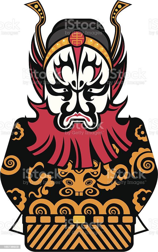 Beijing opera character royalty-free stock vector art
