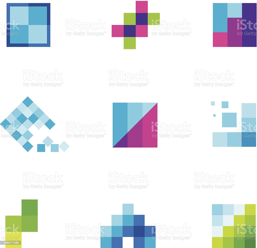 Being creative art with geometric business motive logo icon vector art illustration
