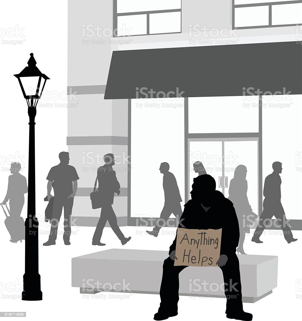Being On The Street vector art illustration