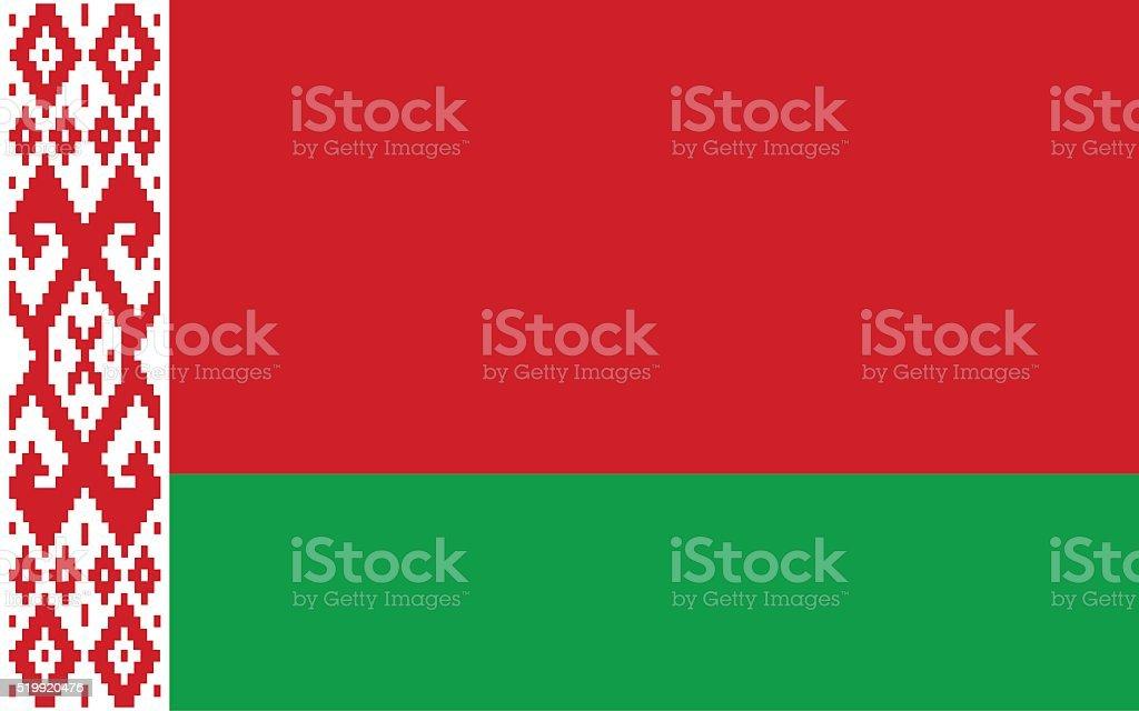 belarus flag vector art illustration