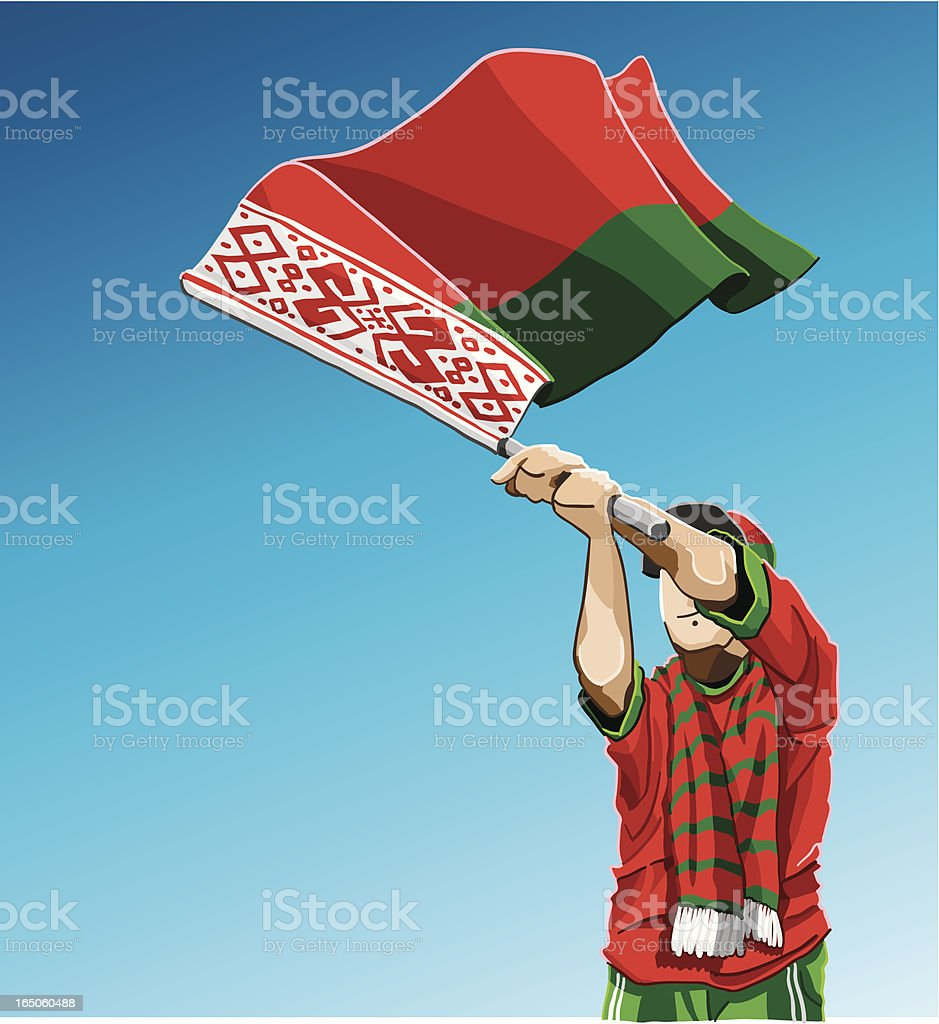 Belarus Waving Flag Soccer Fan royalty-free stock vector art