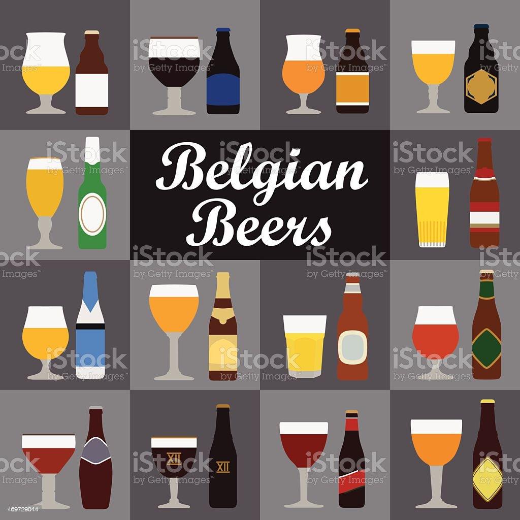 Bières belges stock vecteur libres de droits libre de droits