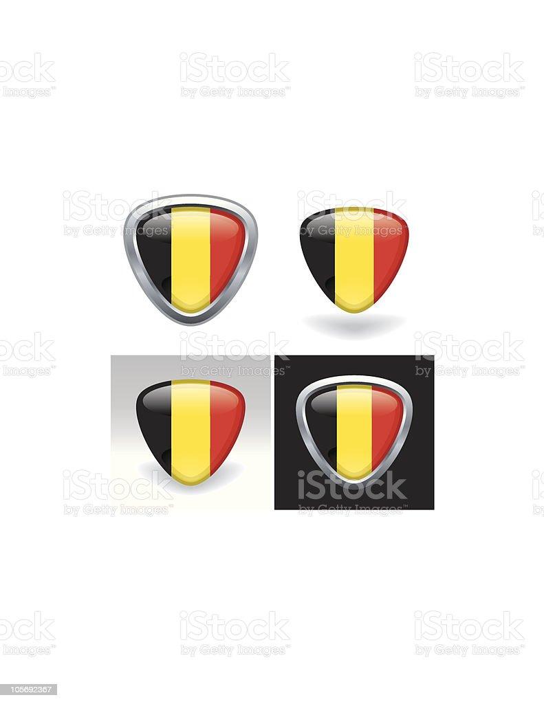 Belgian Flag Crest royalty-free stock vector art