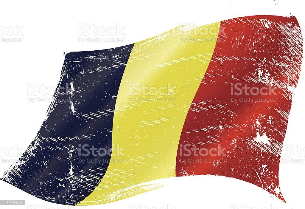 Belgian flag grunge vector art illustration