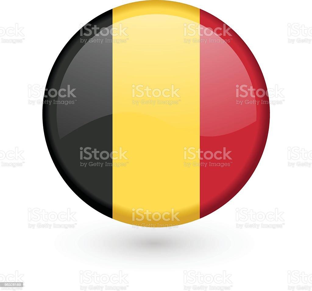 Belgian flag vector button royalty-free stock vector art