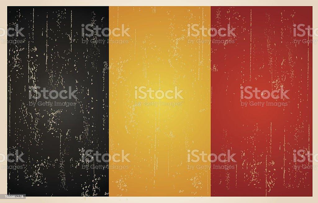 Belgian grunge vintage flag royalty-free stock vector art