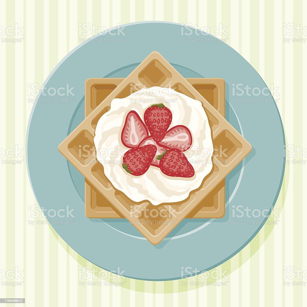 Belgian Waffles vector art illustration