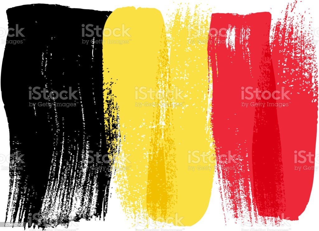 Belgium colorful brush strokes painted flag vector art illustration