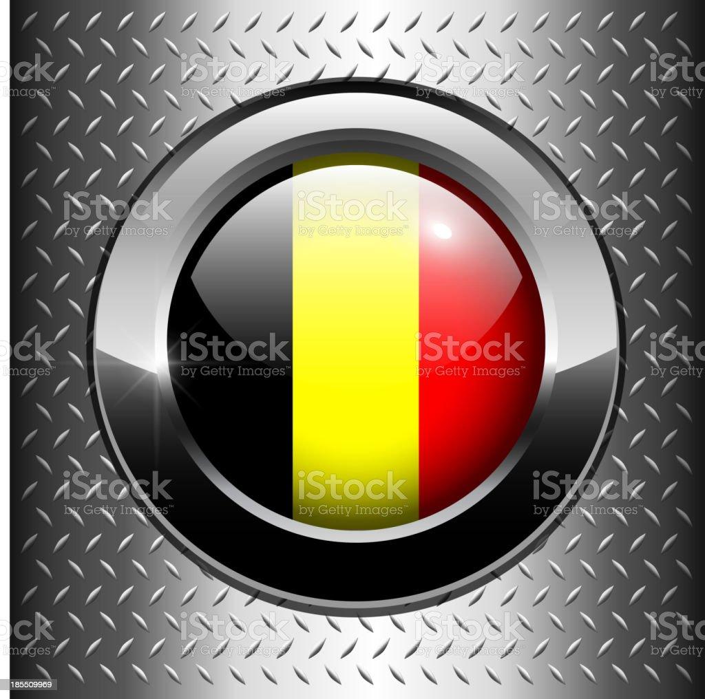 Belgium flag button royalty-free stock vector art