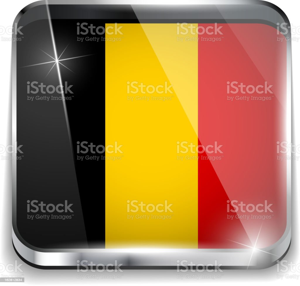 Belgium Flag Smartphone Application Square Buttons royalty-free stock vector art