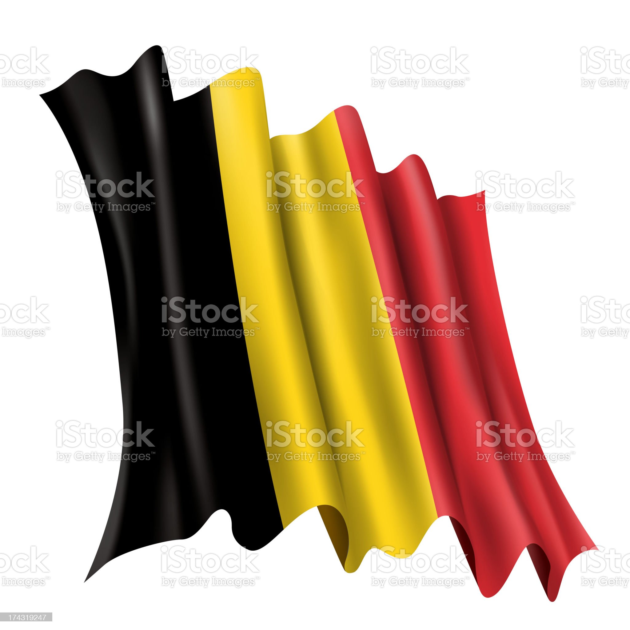 Belgium Flag royalty-free stock vector art