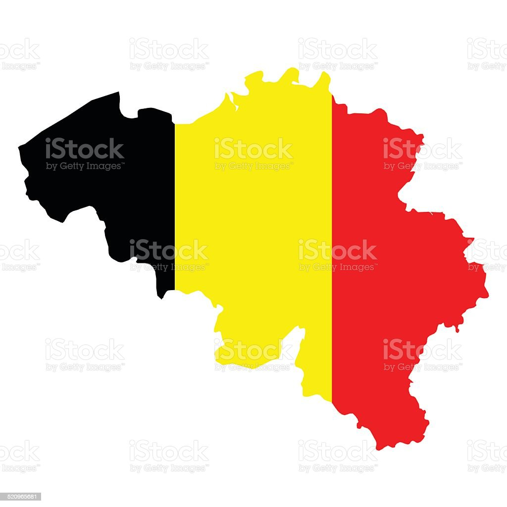 Belgium Flag vector art illustration